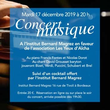 Concert de fin d'année le 17 décembre